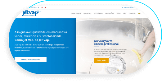 Case Jet Vap - Lavadoras a Vapor | Cases Agência 904