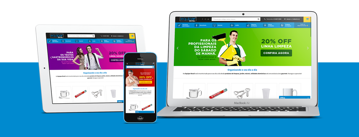Webdesign - Equipar Brasil   Agência 904