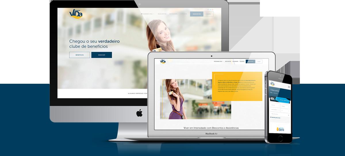 Webdesign - Programa Vida   Agência 904