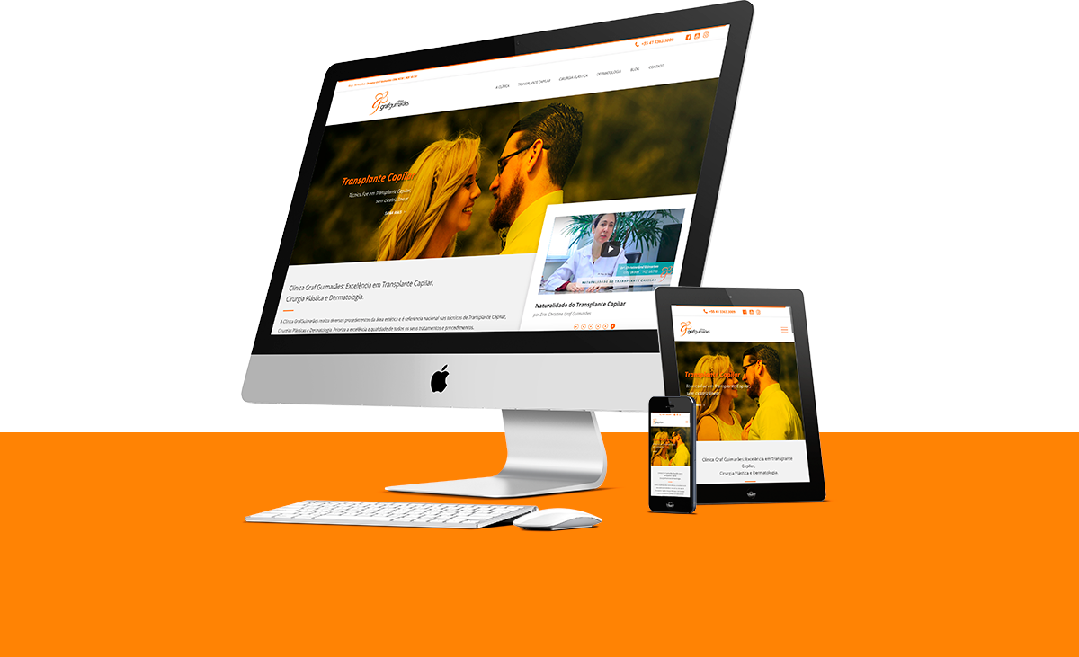 Webdesign - Clínica GrafGuimarães | Agência 904