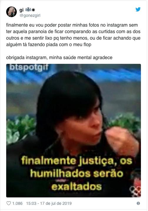 Exemplo reação da retirada de número de curtidas do Instagram | Agência 904